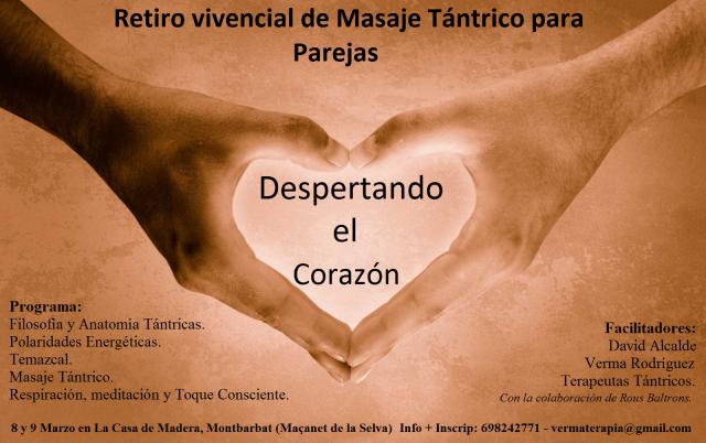 Taller masaje tántrico en La Casa de Madera